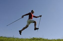 7 Step Methode beim Nordic Walking Training mit Thomas Georgi, Reutlingen